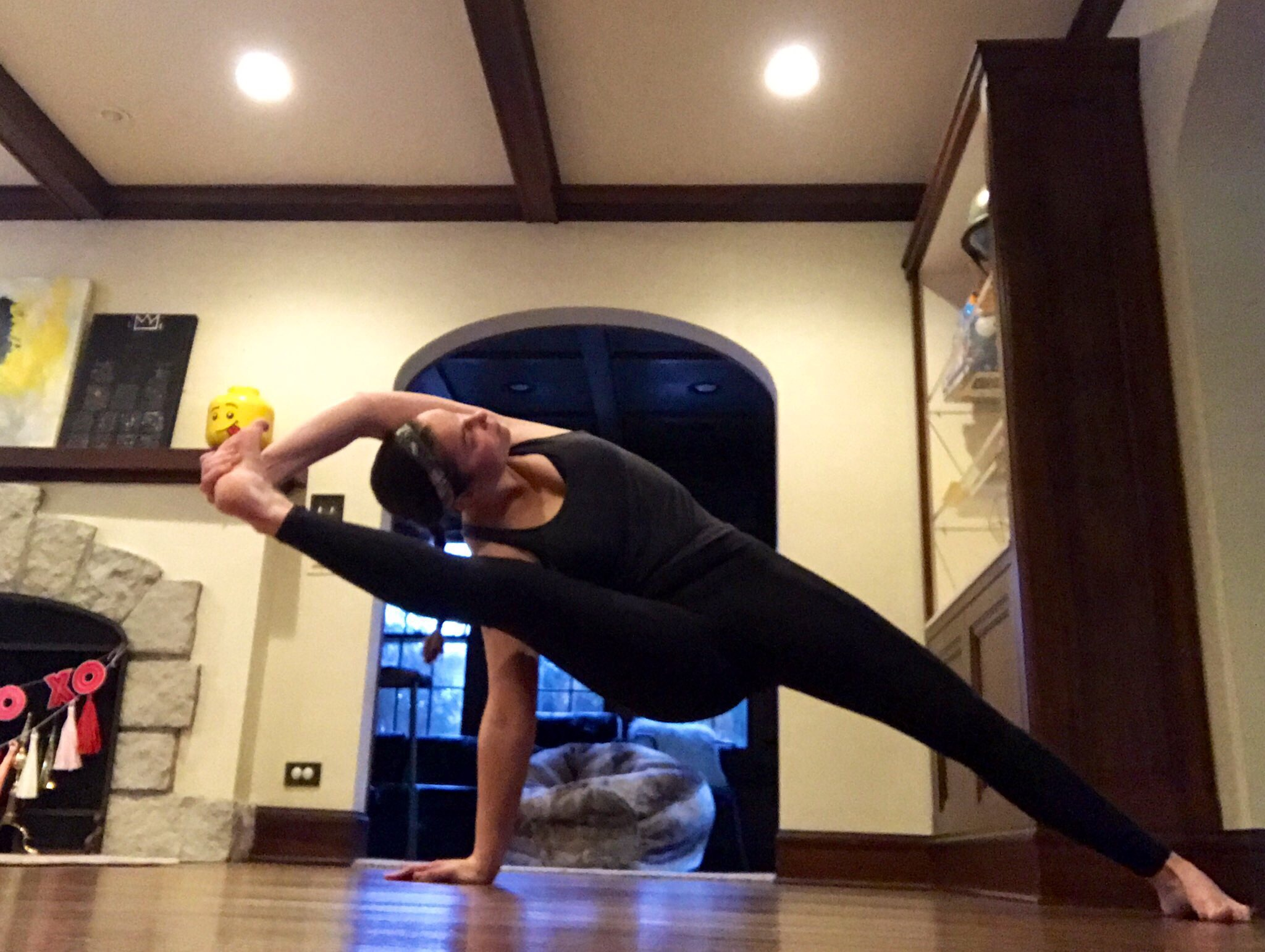 Fallen Triangle Pose Variations